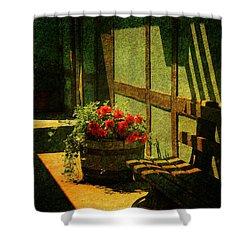 Sunny Corner Shower Curtain by Susanne Van Hulst