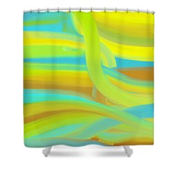 Shower Curtain featuring the painting Sunny Dunes by Frank Tschakert