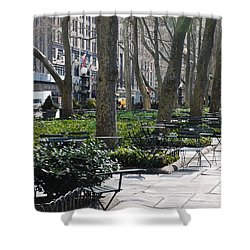 Sunny Morning In The Park Shower Curtain by Rob Hans