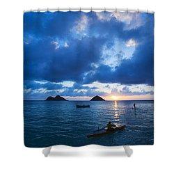 Sunrise At Lanikai Shower Curtain by Dana Edmunds - Printscapes