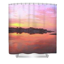 Sunrise Hyannis Harbor Shower Curtain by Roupen  Baker