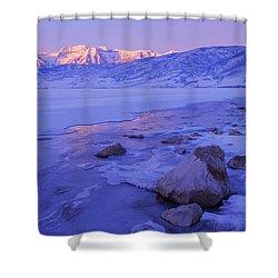 Sunrise Ice Reflection Shower Curtain by Chad Dutson