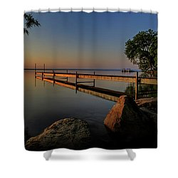 Sunrise Over Cayuga Lake Shower Curtain by Everet Regal