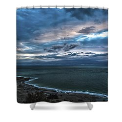 Sunrise Over The Dead Sea Israel Shower Curtain by Reynold Maines