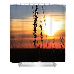Sunset At Monument Hill Shower Curtain by Toni Hopper