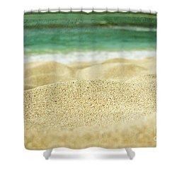 Sunset Beach Shower Curtain by Sharon Mau