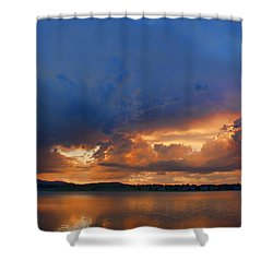 Sunset Blues Shower Curtain by James BO  Insogna