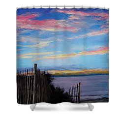 Sunset On Cape Cod Bay Shower Curtain by Jack Skinner