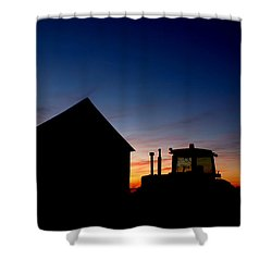 Sunset On The Farm Shower Curtain by Cale Best