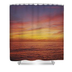 Sunset Over A Sea, Gulf Of Mexico Shower Curtain by Panoramic Images