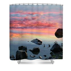 Sunset Reflection Shower Curtain by Marcia Lee Jones