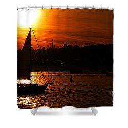 Sunset Sailing Shower Curtain by Clayton Bruster