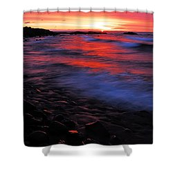 Superior Sunrise Shower Curtain by Larry Ricker