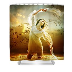 Surrender Shower Curtain by Mary Hood