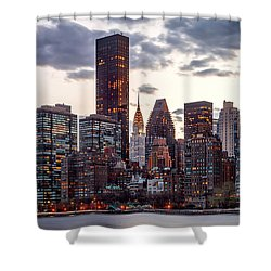 Surrounded By The City Shower Curtain by Az Jackson
