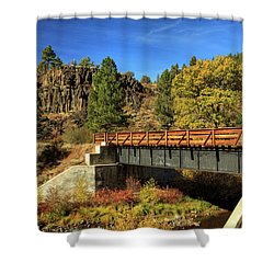Susan River Bridge On The Bizz Shower Curtain by James Eddy