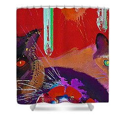 Suspicious Minds Shower Curtain by Charles Stuart