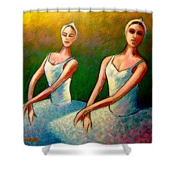 Swan Lake I Shower Curtain by John  Nolan