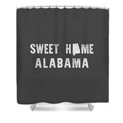 Sweet Home Alabama Shower Curtain by Nancy Ingersoll