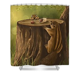 Sweet Snack Shower Curtain by Veronica Minozzi