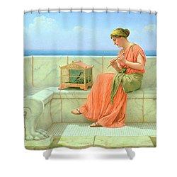 Sweet Sounds Shower Curtain by John William Godward