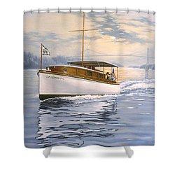 Swell Shower Curtain by Richard De Wolfe