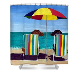 Swim Shower Curtain by Roger Wedegis