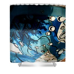 Swimming Pool Mural 2 Shower Curtain by Rachel Christine Nowicki