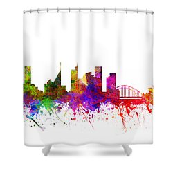Sydney Australia Cityscape 02 Shower Curtain by Aged Pixel