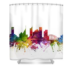 Sydney Australia Cityscape 06 Shower Curtain by Aged Pixel