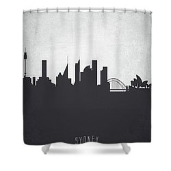 Sydney Australia Cityscape 19 Shower Curtain by Aged Pixel