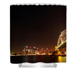 Sydney By Night Shower Curtain by Justin Woodhouse