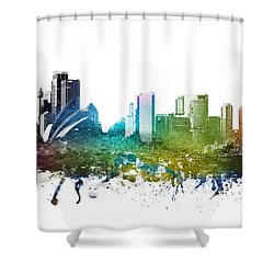 Sydney Cityscape 01 Shower Curtain by Aged Pixel