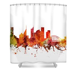 Sydney Cityscape 04 Shower Curtain by Aged Pixel