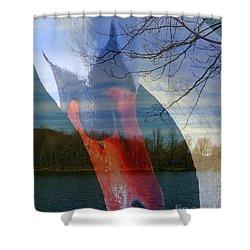 Symbiosis Shower Curtain by Priscilla Richardson