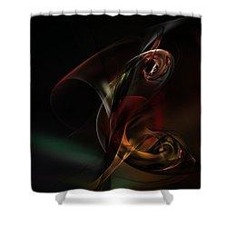 Symphonic Overtones Shower Curtain by David Lane