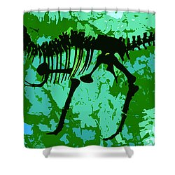 T. Rex Shower Curtain by David Lee Thompson