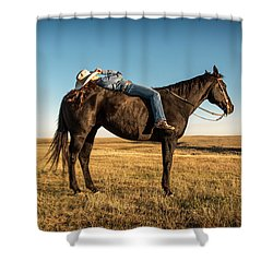 Taking A Snooze Shower Curtain by Todd Klassy