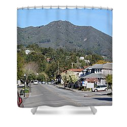 Tamalpais From Mill Valley Shower Curtain by Ben Upham