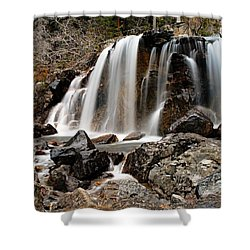 Tangle Falls Closeup 5 Shower Curtain by Larry Ricker