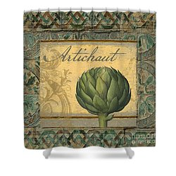 Tavolo, Italian Table, Artichoke Shower Curtain by Mindy Sommers