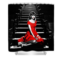 Taylor Swift 8c Shower Curtain by Brian Reaves