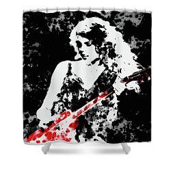 Taylor Swift 90c Shower Curtain by Brian Reaves
