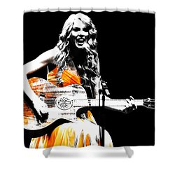 Taylor Swift 9s Shower Curtain by Brian Reaves