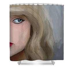 Taylor Swift  Shower Curtain by Barbara Stanley