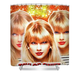 Taylor Swift - Beautiful Vision Shower Curtain by Robert Radmore
