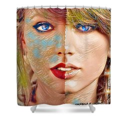 Taylor Swift - Blended Perfection Shower Curtain by Robert Radmore