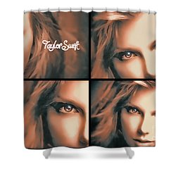 Taylor Swift - Parallels Shower Curtain by Robert Radmore