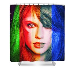 Taylor Swift - Sparks Shower Curtain by Robert Radmore
