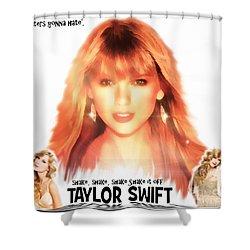 Taylor Swift - Stunning Shower Curtain by Robert Radmore